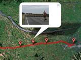 グーグルマップと旅行写真