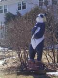 今までの苦労を振り返るパンダ